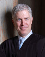 US Supreme Court Justice Neil Gorsuch, nominated by Republican President Trump in 2017 to replace the deceased Antonin Scalia